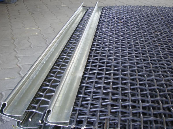 stainless steel crimped wire mesh used for mining mining screen