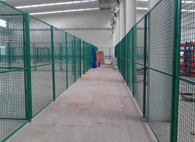 Welded Wire Mesh Fence As Fencing for Workshop
