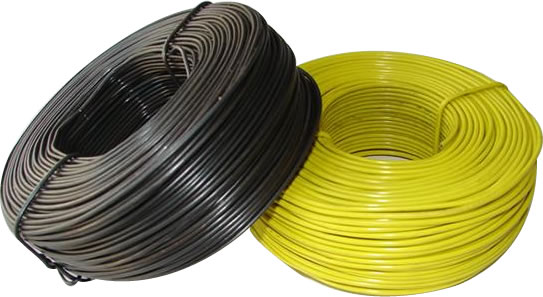 Black and Yellow Coated Tie Wire