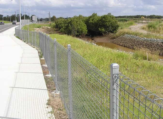 Galvanized Powder Coated Welded Mesh Fence Panels